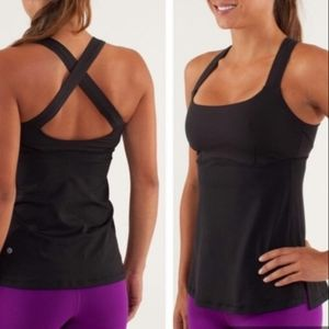 Lululemon Run Top Speed tank top Black 10